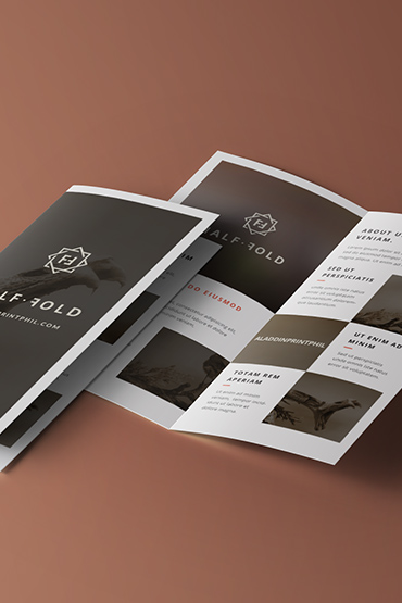 Company brochure designed using our layout template