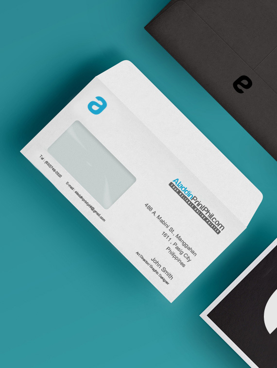 Collection of business envelope designs printed by Aladdinprint Phil