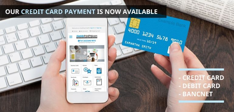 Our Credit card payment is now available