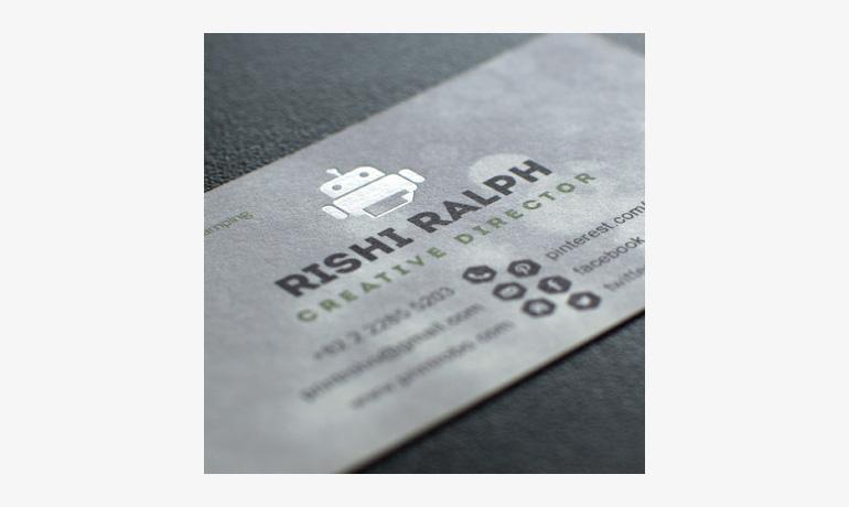 Foil Stamping Business Cards Aladdinprintphil