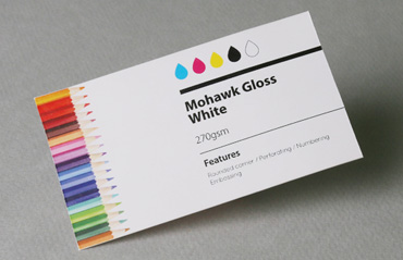 Standard business cards aladdinprintphil mohawk gloss white 270 gsm reheart Images
