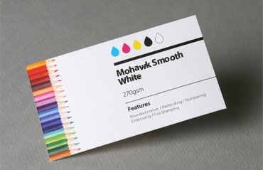 High standard business cards aladdinprintphil mohawk smooth white 270 gsm reheart Image collections