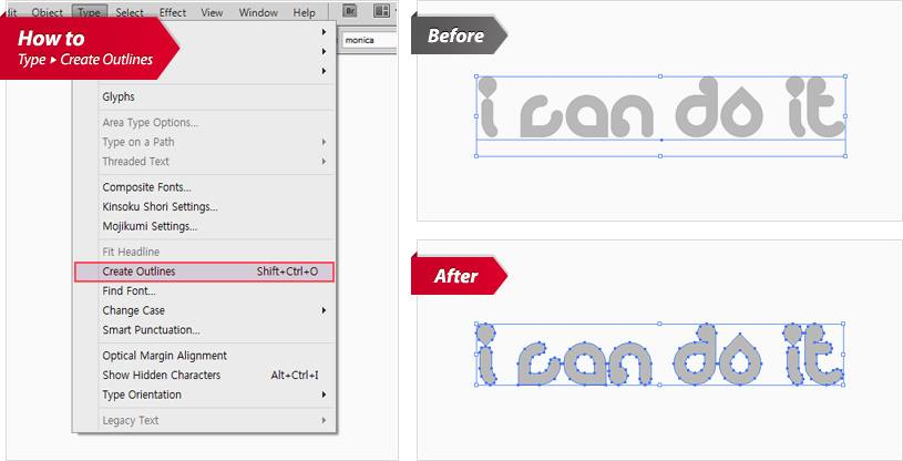 Converting Vector Fonts to Outlines - aladdinprintphil.com