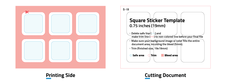 Square Stickers' templates